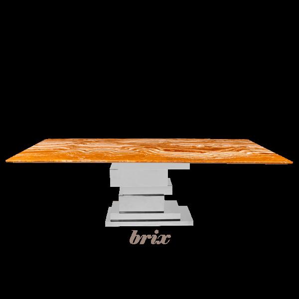 arancio-orange-rectangular-marble-dining-table-6-to-8-pax-decasa-marble-2200x1050mm-Brix-(SS)