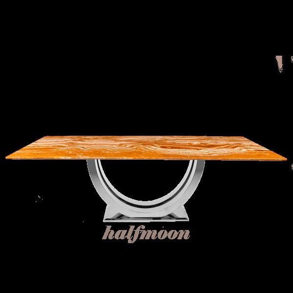 arancio-orange-rectangular-marble-dining-table-6-to-8-pax-decasa-marble-2200x1050mm-Halfmoon-(SS)
